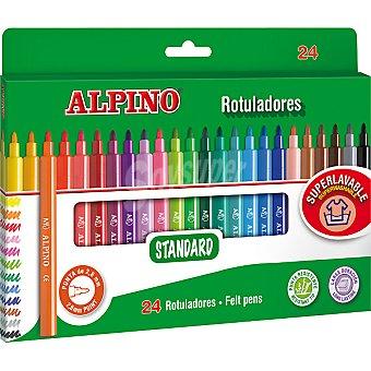 Alpino Estuche con 24 rotuladores standard de colores punta fina