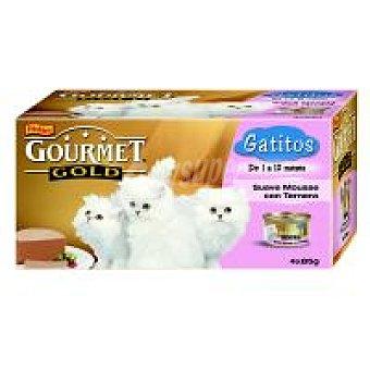 Purina Gourmet Alimento para gatitos Gold Pack 4x85 g