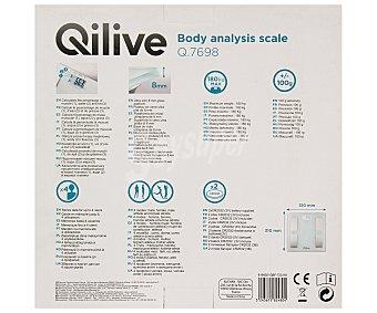 QLIVE Báscula electrónica de baño con plataforma de cristal templado 1 unidad
