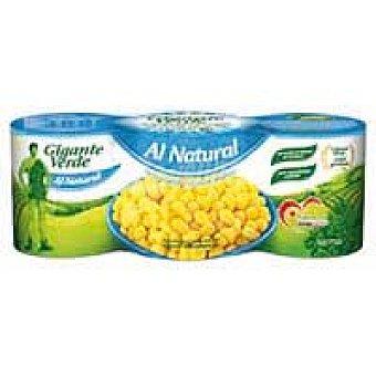 Gigante Verde Maíz al natural Pack 3x140 g