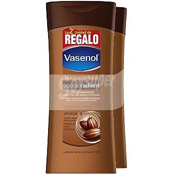 VASENOL Cocoa Radiant Loción corporal sensorial con manteca pura de cacao Pack 2 frasco 400 ml