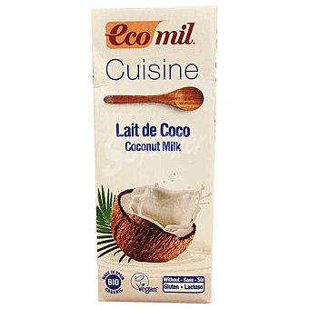 Ecomil Cuisine leche de coco ecológica para cocinar sin gluten Brik 200 ml