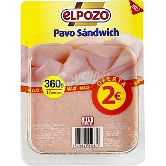 ELPOZO Pavo sándwich 17 lonchas  envase 360 g