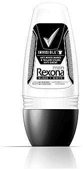 REXONA Desodorante roll-on Invisible B&W 50 ml