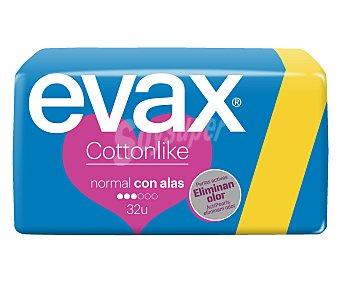 Evax Compresas conttonlike con alas normal 32u