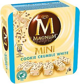 Magnum Frigo Helado mini cookie crumble blanco Caja 6 u x 60 ml (360 ml)