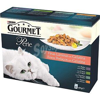 Purina Gourmet Finas láminas en gelatina para gatos Perle 8 unidades de 85 g