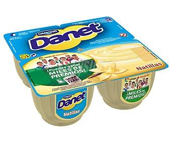 Danet Danone Natillas de vainilla Pack 4 x 125 g