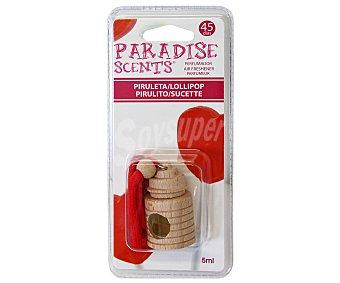 PARADISE SCENTS Ambientador de coche con perfumador de madera para colgar con olor a piruleta 1 unidad