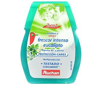 Auchan Dentífrico Gel 2 en 1 Verde (frescor Intenso Eucalipto). dentífrico+elixir 75 Mililitros