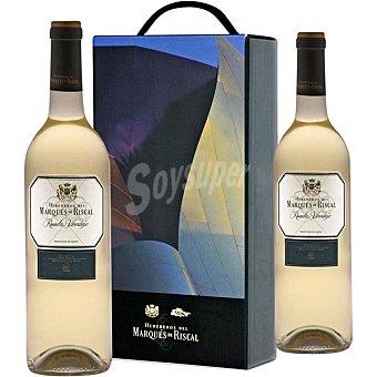 Marqués de Riscal Vino blanco verdejo D.O. Rueda Estuche 2 botellas 75 cl