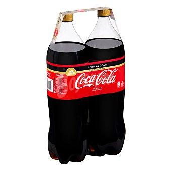 Coca-Cola Zero Refresco de cola zero azúcar zero cafeína Pack 2 botellas x 2 l