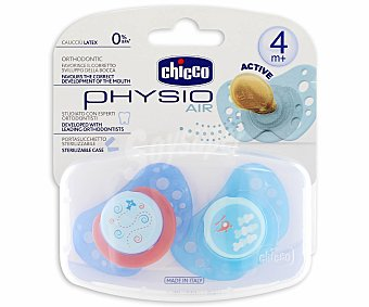 Chicco Chupete physio air de caucho y color azul +4 2 uds