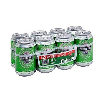 Heineken Cerveza rubia holandesa 8 lata x 33 cl