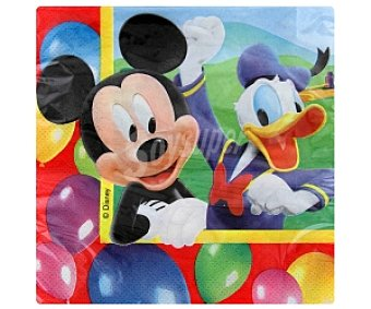 MICKEY Party Servilletas papel 33x33cm 20 Unidades