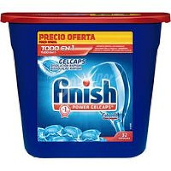 FINISH Todo en 1 Lavavajillas máquina cápsulas Bolsa 32 dosis