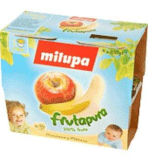 Milupa Tarrito Frutapura de manzana y plátano Pack de 4x100 g