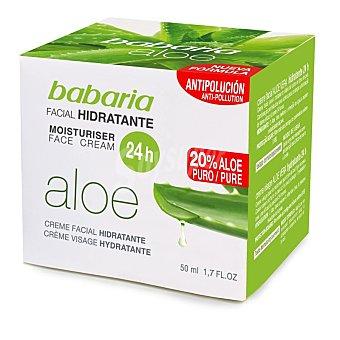 Babaria Crema hidratante facial 24 horas con aloe vera Bote 50 ml