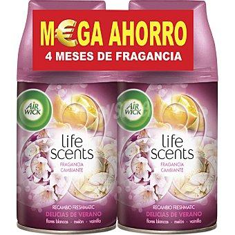Air Wick Ambientador F.M Duplo Rec Delicias Verano  2 recambios de 250 ml