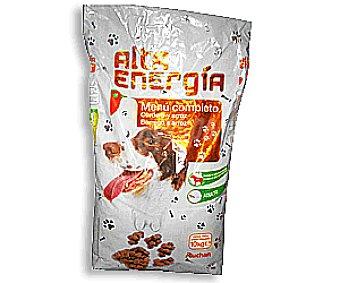 AUCHAN ALTA ENERGÍA Pienso perros para una alimentación completa 10 kilogramos