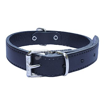San Dimas Collar para perros pequeños cuero liso Negro