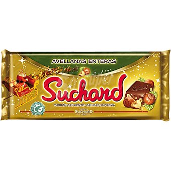 Suchard Turrón de chocolate crujiente con avellanas enteras Tableta 285 g