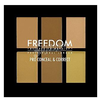 Freedom Paleta 6 coloretes correctores light/medium 1 ud