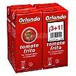 Tomate frito sin gluten Pack de 4 briks de 350 g Orlando
