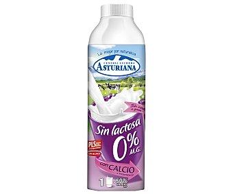 ASTURIANA Leche desnatada sin lactosa 0% Materia Grasa 100% ingredientes naturales envase 1 l