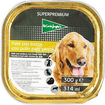 El Corte Inglés Paté con trozos con pollo para perro tarrina 300 g Superpremium Tarrina 300 g