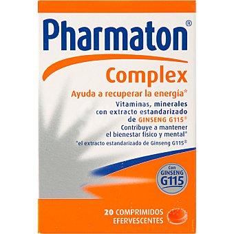 Pharmaton COMPLEX efervescente vitaminas y minerales con Ginseng G115 efervercentes caja 20 comprimidos