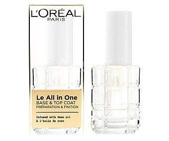 L'Oréal Esmalte y base de uñas infusinado con aceite de rosas Le all in one