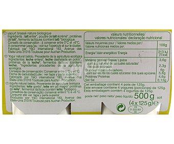 Auchan Bio Yogur naturara Bio 4x125g