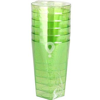 Vaso color verde paquete 6 unidades