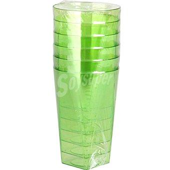 NV CORPORACION Vaso color verde 30 cl  1 paquete 6 unidades