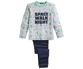 In Extenso Pijama largo para niño, color gris, talla 12