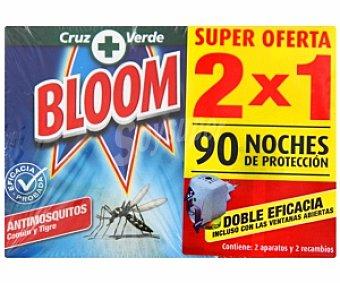 Bloom Insecticida eléctrico, antimosquitos 2 Aparatos + 2 Recambios