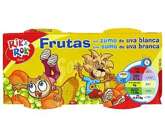 Rik&Rok Auchan Frutas en Zumo de Uva 2x70g