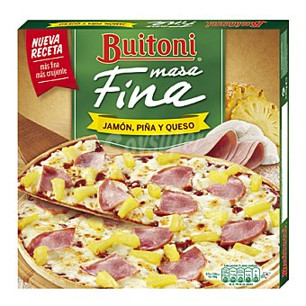 Buitoni Pizza de jamón, piña y queso masa fina 320 g