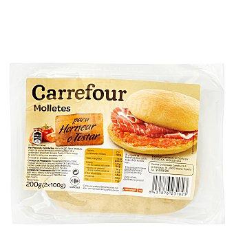 Carrefour Molletes de pan para hornear o tostar Pack de 2x100 g