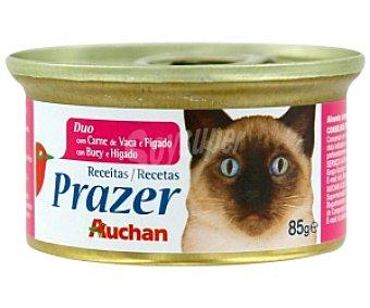 Auchan Comida completa para gatos con buey e hígado 85 gramos