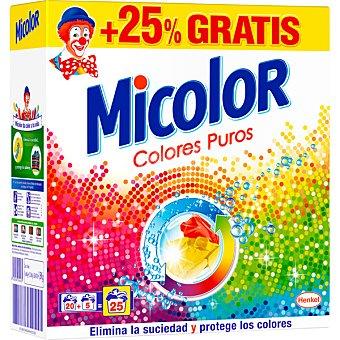 Micolor Detergente maquina polvo colores puros maleta 20 cacitos 20 cacitos