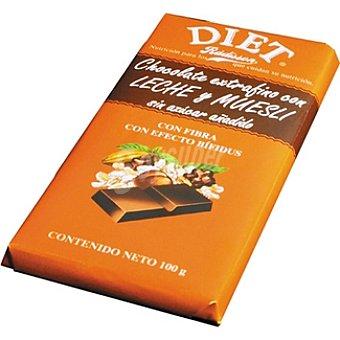 Diet Rádisson Chocolate con leche y muesli sin azúcar Tableta 100 g