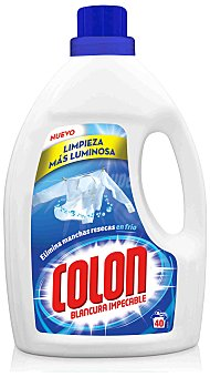 Colón Detergente máquina líquido gel Botella 40 dosis