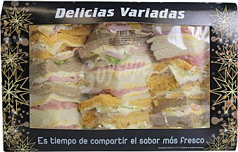 LORD SANDWHICHES Selección de sándwiches clásicos en formato pequeño 680 gramos