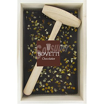 Bovetti chocolate negro al 73% con naranja confitada en caja y con martillo de madera caja  350 g
