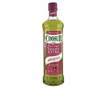 COOSUR JAENCOOP Aceite de oliva virgen extra arbequina Botella de 1 litro
