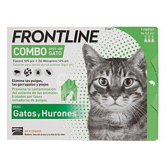 Frontline Pipetas desparasitantes para gatos Merial Comboline Caja 3 u