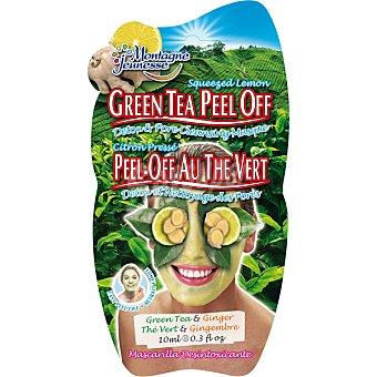 Montagne Jeunesse Mascarilla peel-off desintoxicante con té verde y jengibre envase 10 ml envase 10 ml