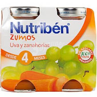 Nutribén Zumo de uva-zanahoria Pack 2x130 ml